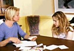 A liberal mom (Ellen Barkin) and her - pregnant 13-year-old (here Jennifer Jason - Leigh).