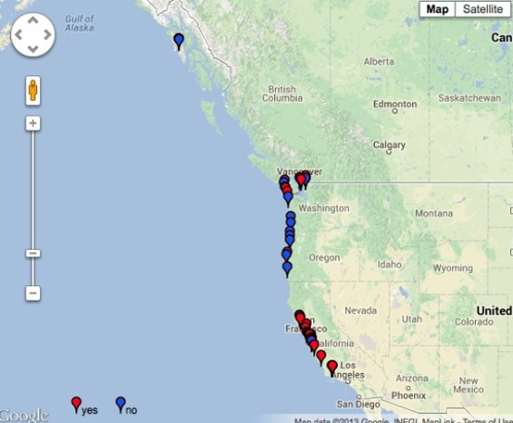 A map of where this madness is happening - PACIFIC ROCKY INTERTIDAL MONITORING