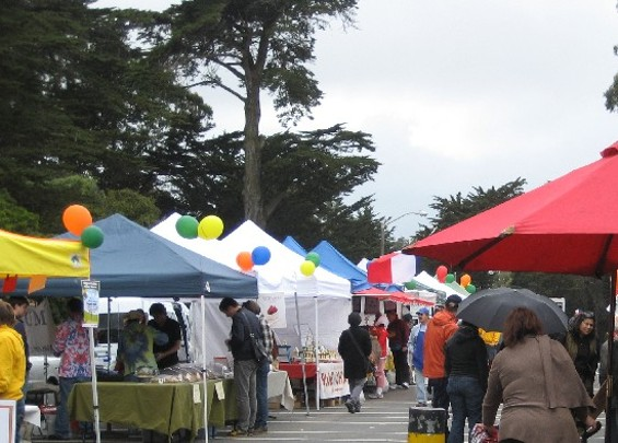 A market in the trees.