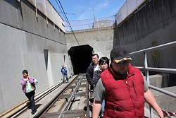 A May Muni malfunction forced riders to walk out of the Metro Tunnel - WILLIAM POOR