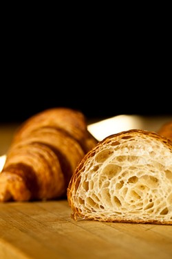 ERIC WOLFINGER - A Neighbor croissant cross-section.