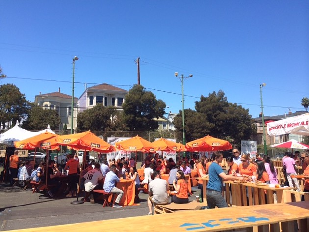 A new feature to SFSFF, the Aperol brunch added a layer of luxury to the fest.
