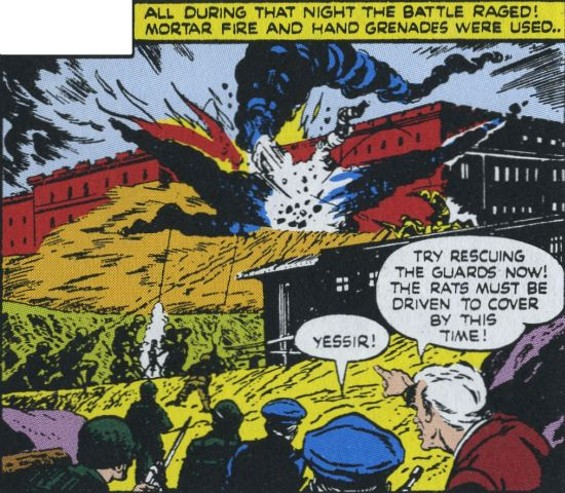 "A panel from ""Mutiny on the Rock,"" 1946 - DAN BARRY"