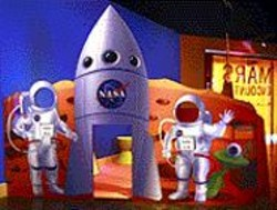 """A photo op at Chabot's """"Mars Encounter"""" - exhibit."""