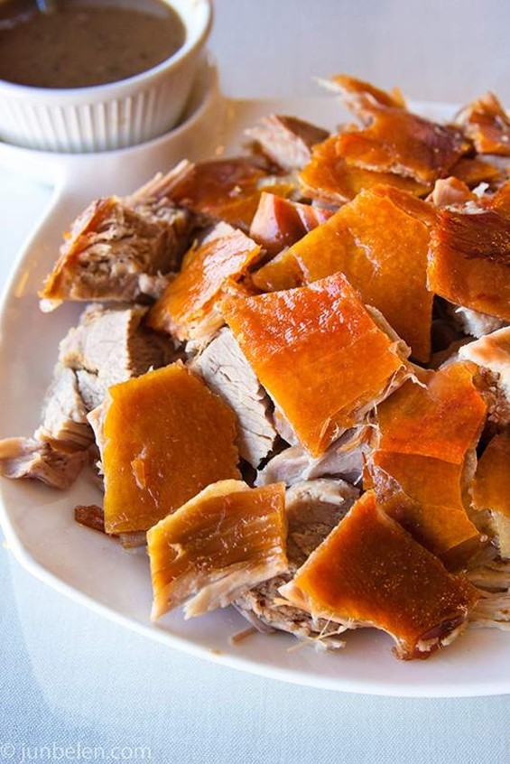 A plate of lechon from Tastebuds. - JUN BELEN / JUN-BLOG