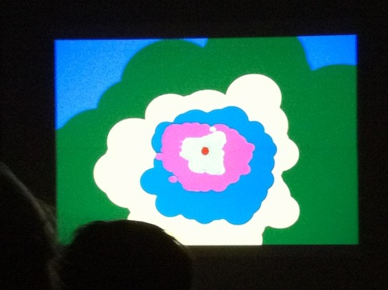 A sample frame from Robert A.A. Lowe's projection show.