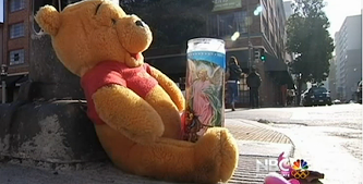 A shrine for Sophia Liu, who was killed by an Uber driver on New Year's Eve. - NBC