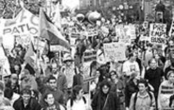 PAOLO  VESCIA - A small segment of Saturday's peace march.