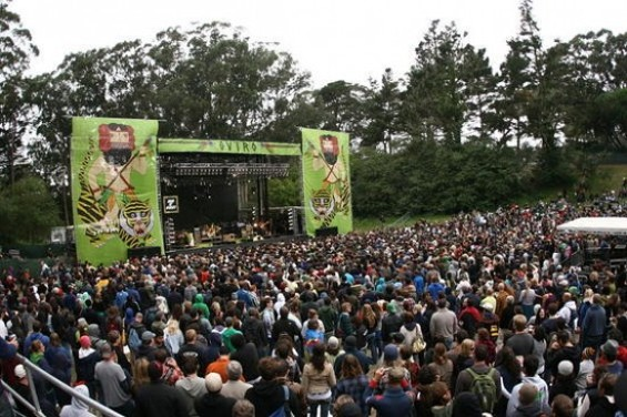 A stage at Outside Lands 2009