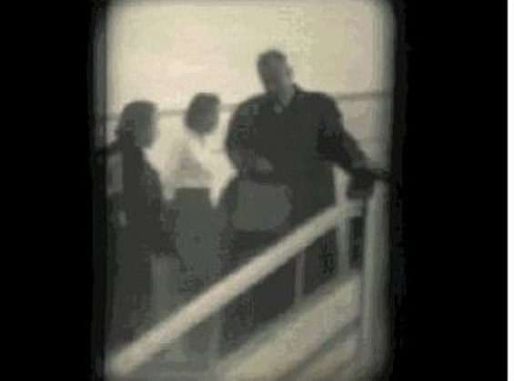A still from Rafael Aramyan's home movie of Steinbeck in Armenia, 1963.