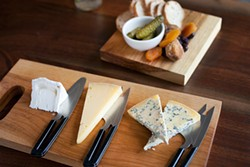 LARA HATA - A tasting flight: Three cheeses, straight up.