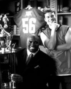 A Terry Tate that Larry Tate would be proud of: - Lester Speight, left, and Rawson Thurber tackle the - ad world.
