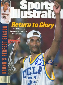 A triumphant Ed O'Bannon graces the cover of Sports Illustrated. - SPORTS ILLUSTRATED