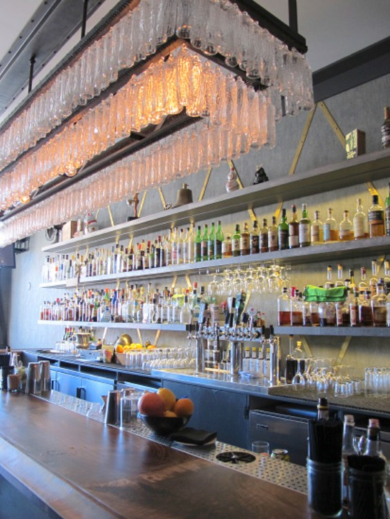 A view of the bar at Brass Tacks - LOU BUSTAMANTE