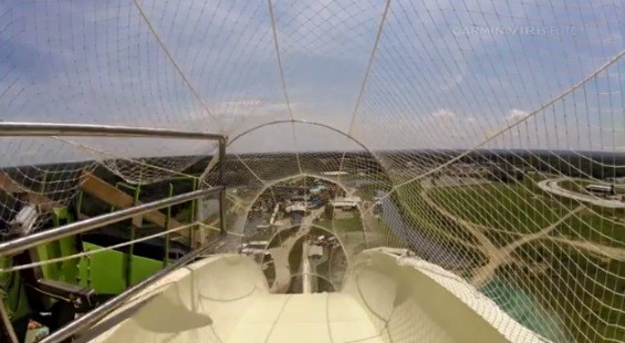 A virtual ride down the tallest water slide - YOUTUBE
