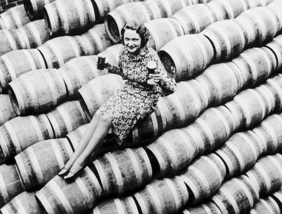 A woman celebrates the end of prohibition in 1933 on this very day. - KEYSTONE-FRANCE/GAMMA-KEYSTONE VIA GETTY IMAGES
