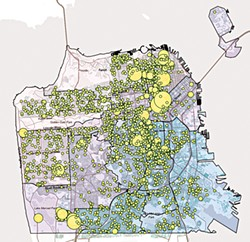 SAN FRANCISCO ANTI-DISPLACEMENT COALITION - According to the SFADC, 2,120 eviction notices were filed with the rent board during the year ending Feb. 28, 2015.