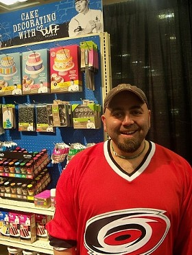 """Ace of Cakes"" dude Duff Goldman, pimping a new line of baking products. - MARY LADD"