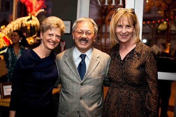 A.C.T. Artistic Director Carey Perloff, San Francisco Mayor Ed Lee, and A.C.T. Executive Director Ellen Richard at the opening celebration of The Costume Shop. - A.C.T.
