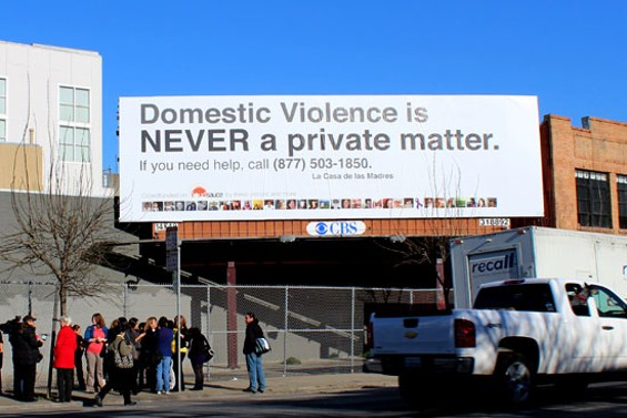 Activists use a billboard to correct Mirkarimi's point of view on domestic violence - ERIN BROWNER
