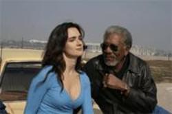 Add It Up: Paz Vega and Morgan Freeman.