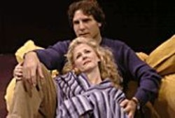 DAVID M. ALLEN - Affairs of the Heart: Henry (Marco Barricelli) - and Annie (Ren Augesen) share a tender - moment.