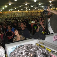 High On Fire at Amoeba Records, SF After a summer of festival barricades, Amoeba offers up-close interaction. By David Downs