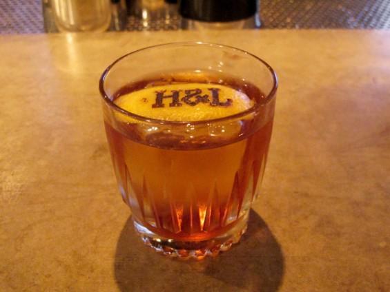 Aged Martinez cocktail at Hook & Ladder - LOU BUSTAMANTE