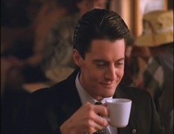 Agent Cooper loves his coffee.