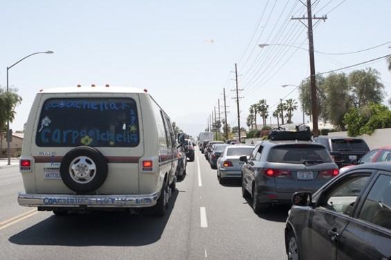 Ah yes, the Coachella traffic jam. - CHRISTOPHER VICTORIO