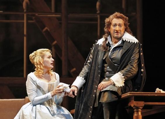 Ainhoa Arteta (Roxane) and Plácido Domingo (Cyrano de Bergerac) - CORY WEAVER