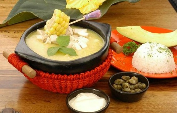Ajiaco soup from Maite Catering: Perfect for a miserable day like today. - MAITE CATERING
