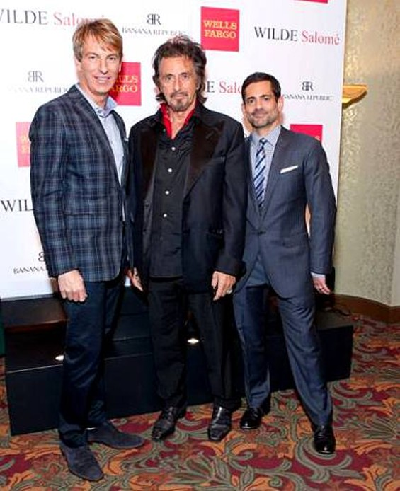 Al Pacino stands with Jack Calhoun (left), president of event-sponsor Banana Republic, and Chris Nicklo, vice president of marketing for the company