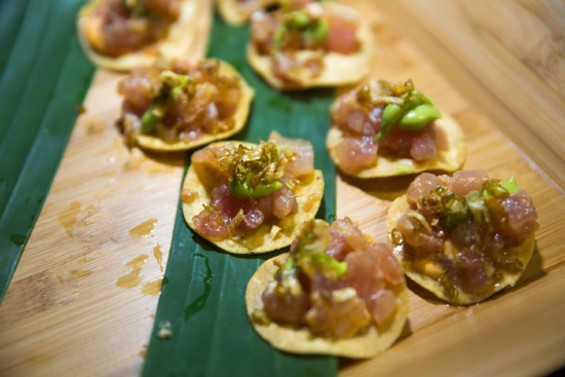 Albacore tuna tostadas from Tacolicious - RICHARD PATTERSON