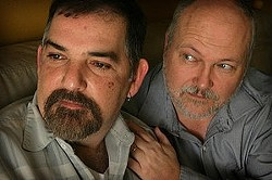 Alex Benshimol, left, can stay in the country with his husband Alex Gentry.