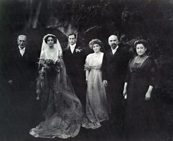 Alice and Samuel on their wedding day.