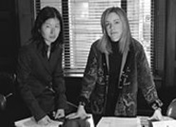 """PAOLO  VESCIA - Alice's attorneys, Kathleen Kim (left) and - Nancy Harris, are """"confident"""" a California - jury will agree that Alice was mistreated."""