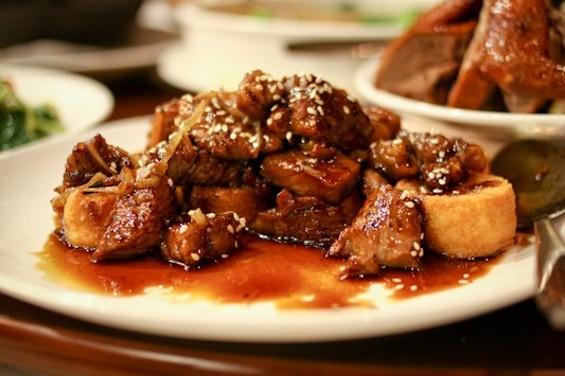 All Season's stir-fried fatty beef with soft tofu. - KATRINA L./YELP