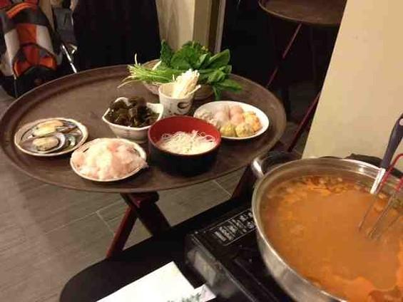 All you can eat hot pot at The Pot's. - TAMARA PALMER