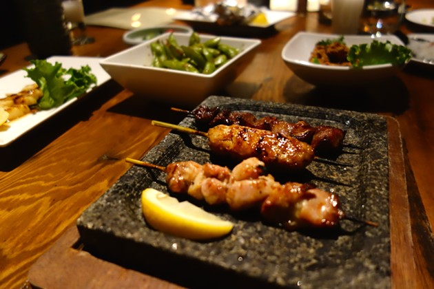 Almost every bit of the chicken is available on the Yakitori menu. - FERRON SALNIKER