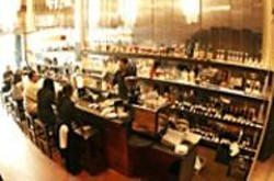 JAMES  SANDERS - Although it looks like a regular bar, the - downstairs area of Blupointe serves up - sushi, just one of the items on a menu that - includes Italianate, fusion, and California - cuisine.