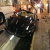 Maserati Drives Into Muni Bus Yard, Wrecks