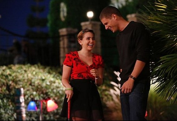 Amber and Ryan get close during a mini-golf date. - PHOTO COURTESY OF NBC.COM.