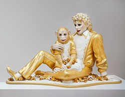 America's sweethearts: Jeff Koons's Michael Jackson and Bubbles, 1988.