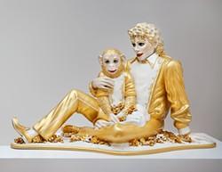 America's sweethearts: Jeff Koons's Michael Jackson and Bubbles, 1988.