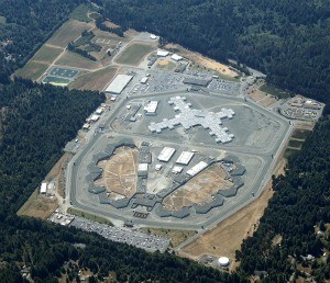 An aerial view of Pelican Bay State Prison