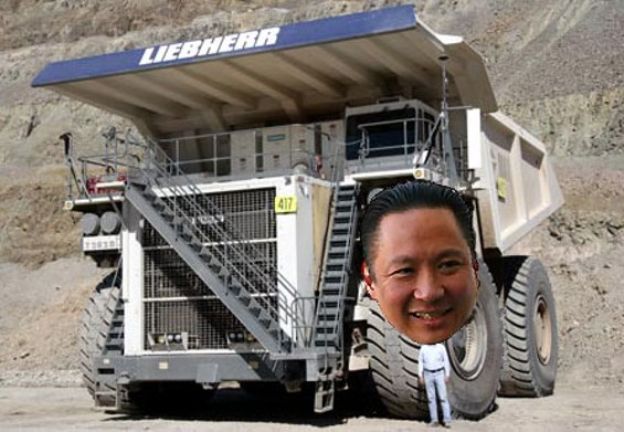 An artist's rendition of Jeff Adachi's dump truck - JANINE KAHN