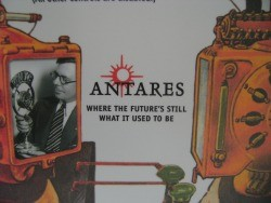 An old promotional poster at Antares' offices in Scotts Valley, Calif. - DEAN SCHAFFER