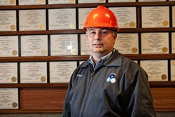 FRANK GAGLIONE - Andrew Clark, a stationary engineer at the Southeast sewage treatment plant, earns an extra 7.5 percent of his salary for holding required licenses in - emergency training.