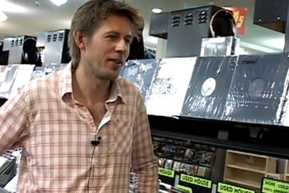 Andy Cato of Groove Armada in Amoeba SF